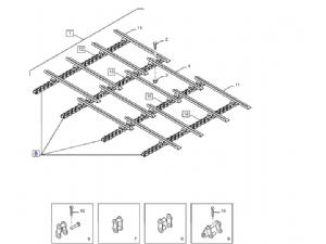 Transport ketting voor combine: